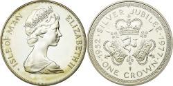 World Coins - Coin, Isle of Man, Elizabeth II, Crown, 1977, Pobjoy Mint, , Silver