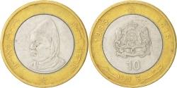 World Coins - MOROCCO, 10 Dirhams, 1995, KM #92, , Bi-Metallic, 28, 11.98