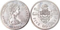 World Coins - Coin, Cayman Islands, Elizabeth II, 5 Dollars, 1972, British Royal Mint
