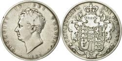 World Coins - Coin, Great Britain, George IV, 1/2 Crown, 1825, , Silver, KM:695