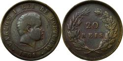 World Coins - Coin, Portugal, Carlos I, 20 Reis, 1891, , Bronze, KM:533
