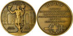 World Coins - France, Medal, Bligny, Reims, Politics, Society, War, 1918, Lavrillier