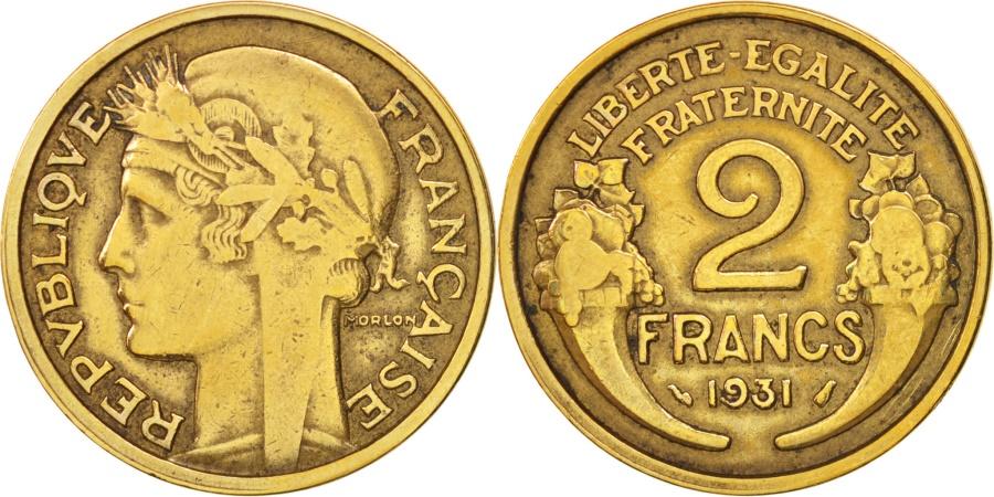 World Coins - France, Morlon, 2 Francs, 1931, Paris, , Aluminum-Bronze, KM:886