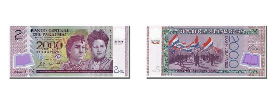 World Coins - Paraguay, 2000 Guaraníes, 2008, KM #228a, UNC(65-70), A04371864