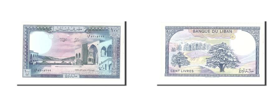 World Coins - Lebanon, 100 Livres, 1988, Undated, KM:66d, UNC(63)