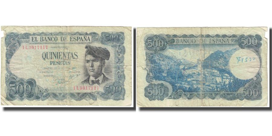 World Coins - Banknote, Spain, 500 Pesetas, 1971, 1971-07-23, KM:153a, VF(20-25)