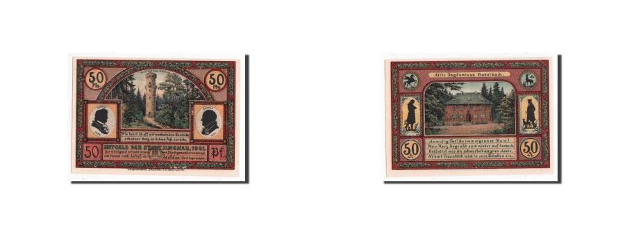 World Coins - Germany, Llmenau, 50 Pfennig, paysage, 1921, UNC(65-70), Mehl:643.4