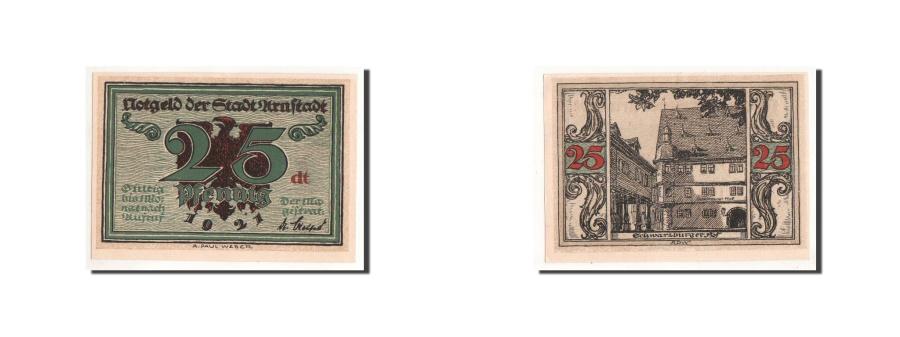 World Coins - Germany, Arnstadt, 25 Pfennig, batiment 1, 1921, UNC(65-70), Mehl:43.2