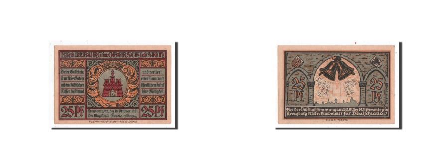 World Coins - Germany, Kreuzburg, 25 Pfennig, cloches, 1921-10-18, UNC(65-70), Mehl:744.2