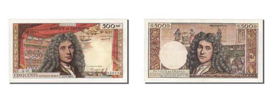 World Coins - France, 500 Nouveaux Francs, 500 NF 1959-1966 ''Molière'', 1963, KM #145a, 1...