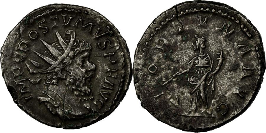 Ancient Coins - Coin, Postumus, Antoninianus, 260-269, Trier or Cologne, AU(50-53), Billon