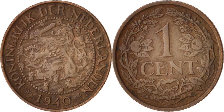 World Coins - Netherlands, Wilhelmina I, Cent, 1940, , Bronze, KM:152
