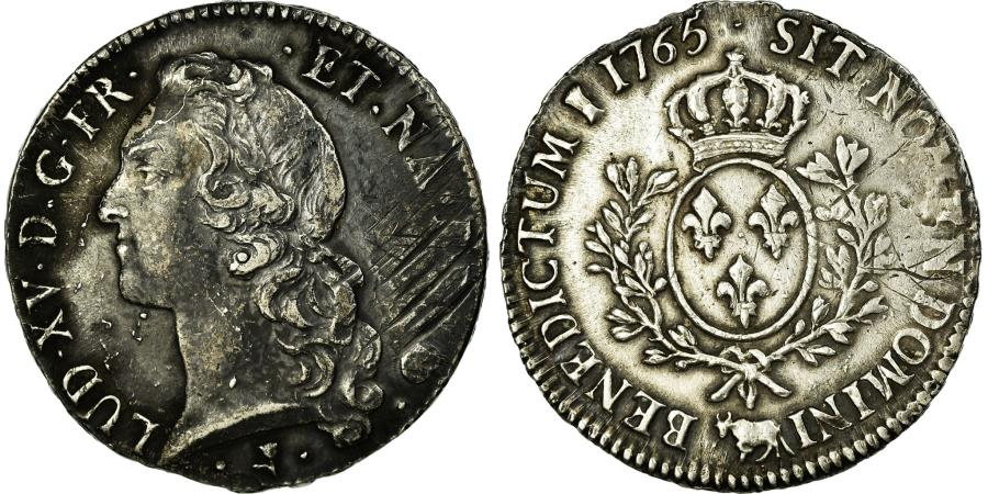 World Coins - Coin, France, Louis XV, Écu de Béarn au bandeau, Ecu, 1765, Pau, VF(30-35)