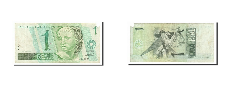World Coins - Brazil, 1 Real, 1997, KM #243Ae, F(12-15), B7870045670B