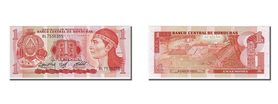 World Coins - Honduras, 1 Lempira, 1984, KM #68a, 1984-10-18, UNC(65-70), BL7536355