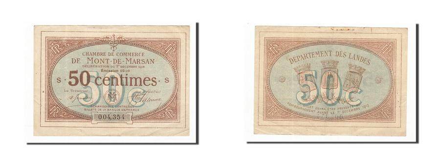 france mont de marsan 50 centimes 1914 au 50 53 pirot 82 1. Black Bedroom Furniture Sets. Home Design Ideas