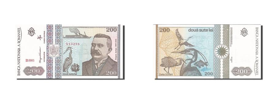 World Coins - Romania, 200 Lei, 1991-1994, 1992, KM:100a, UNC(65-70)