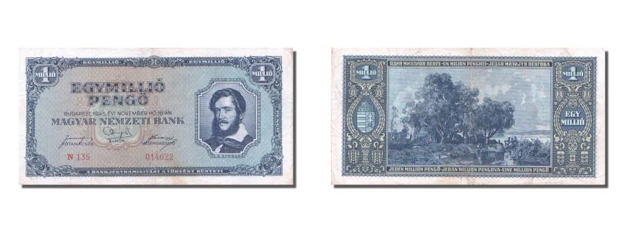 World Coins - Hungary, 1,000,000 Pengö, 1945, KM #122, 1945-11-16, EF(40-45), N.135