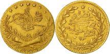 World Coins - Turkey, Abdul Hamid II, 25 Kurush, 1893, Qustantiniyah, EF(40-45), Gold, KM:729