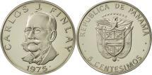 World Coins - Panama, 5 Centesimos, 1975, U.S. Mint, MS(64), Copper-Nickel Clad Copper
