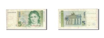 GERMANY - FEDERAL REPUBLIC, 5 Deutsche Mark, 1991, KM:37, 1991-08-01, VF(20-25)
