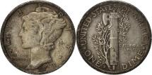 United States, Mercury Dime, 1939, U.S. Mint, San Francisco, EF(40-45)