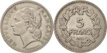France, Lavrillier, 5 Francs, 1935, Paris, AU(50-53), Nickel, KM:888