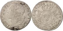 World Coins - France, Louis XV, 1/2 Écu au bandeau, 1/2 ECU, 44 Sols, 1750, Montpellier