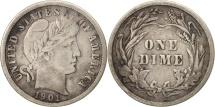 United States, Barber Dime, Dime, 1901, U.S. Mint, Philadelphia, VF(20-25)