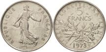 France, Semeuse, 5 Francs, 1973, Paris, AU(50-53),Copper-Nickel, KM 926a.1