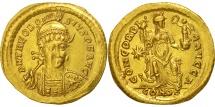 Theodosius II, Solidus, Constantinople, AU(55-58), Gold, RIC:202