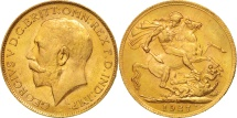 World Coins - South Africa, George V, Sovereign, 1927, MS(63), Gold, KM:21