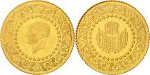 World Coins - Turkey, 50 Kurush, 1968, AU(55-58), Gold, KM:871