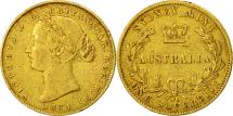 World Coins - Australia, Victoria, Sovereign, 1864, Sydney, VF(30-35), Gold, KM:4