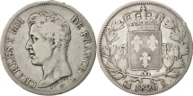 World Coins - France, Charles X, 5 Francs, 1826, Bordeaux, VF(20-25), Silver, KM:720.7