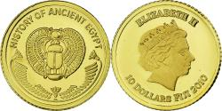 Ancient Coins - Coin, Fiji, History of Ancient Egypt, 10 Dollars, 2010, , Gold