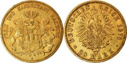 Ancient Coins - Coin, German States, HAMBURG, 20 Mark, 1878, Hamburg, , Gold, KM:602