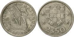 World Coins - Portugal, 2-1/2 Escudos, 1982, , Copper-nickel, KM:590