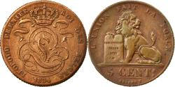 World Coins - Coin, Belgium, Leopold I, 5 Centimes, 1834, , Copper, KM:5.1