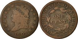 Us Coins - Coin, United States, Classic Head Cent, 1808, Philadelphia, F(12-15), KM 39