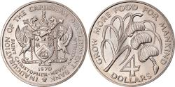 World Coins - Coin, SAINT KITTS & NEVIS, 4 Dollars, 1970, , Copper-nickel, KM:1