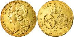 World Coins - Coin, France, Louis XV, Double louis d'or au bandeau, 1767, Bordeaux