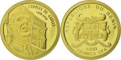 World Coins - Coin, Benin, Charles de Gaulle, 1500 Francs CFA, 2010, Proof, , Gold