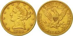 Us Coins - Coin, United States, Coronet Head, $5,1880, Philadelphie,(AU50653), Gold, KM 101