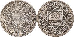 World Coins - Coin, Morocco, Mohammed V, 20 Francs, AH 1352/1933, Paris, , Silver