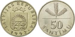 World Coins - Coin, Latvia, 50 Santimu, 1992, , Copper-nickel, KM:13