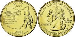 Us Coins - Coin, United States, Quarter, 2002, U.S. Mint, Denver, Doré,