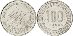 World Coins - CAMEROON, 100 Francs, 1971, Paris, KM #E13, , Nickel, 7.02