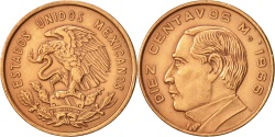 World Coins - Mexico, 10 Centavos, 1966, Mexico City, , Bronze, KM:433