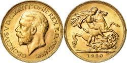 World Coins - Coin, Australia, George V, Sovereign, 1930, Perth, , Gold, KM:32